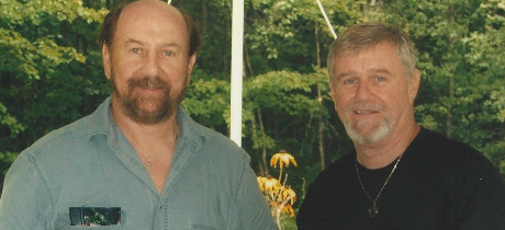 A recent photo of Tommy, on the left, and his younger brother Danny.  (Tommy's in his seventies; Danny is a few years younger.)