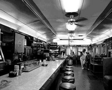 (This isn't the Blue Moon Diner, but in Upstate, NY they all looked the same inside -- photo by Brian Beachum.)