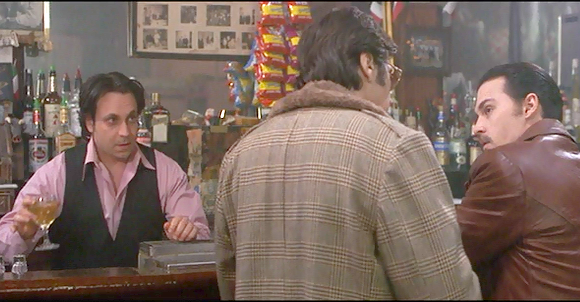 """Screen shot from """"Donnie Brasco."""" (My choice for the most realistic dialogue of any Mafia film.)"""