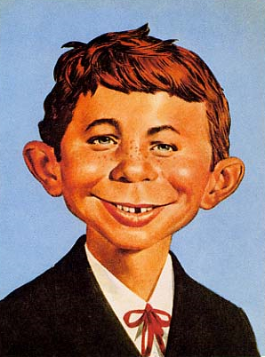 What me ... Extortion??? (Yelp! spokesperson .... oh wait, that's actually Alfred E. Newman.  My bad.)